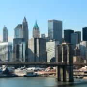 Marc Knecht Photographie - Manhattan vue de Brooklyn avec le Brooklyn Bridge