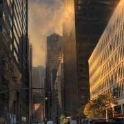 Marc Knecht - Sunset sur Manhattan New York